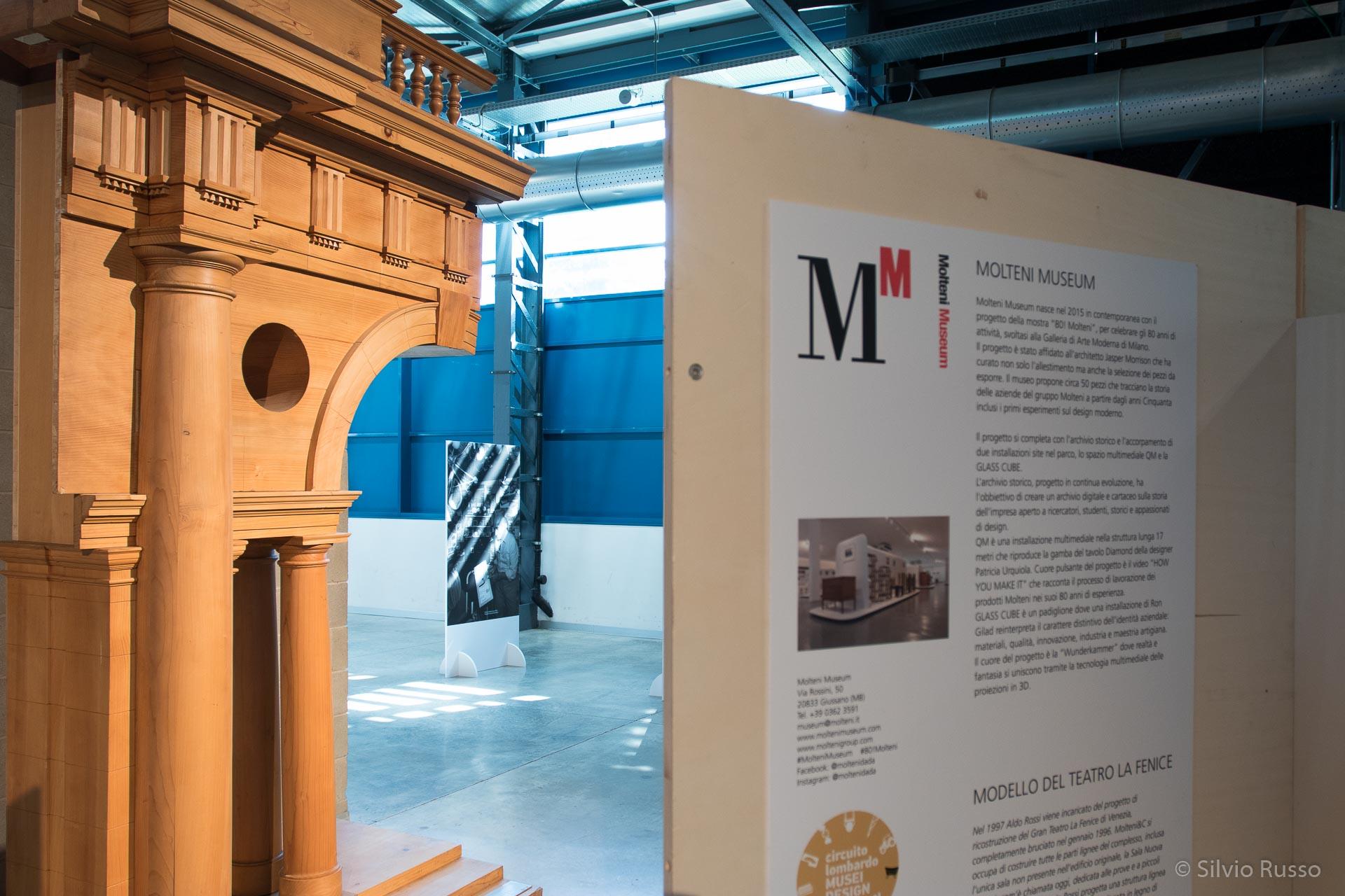 Modello di decorazione lignea per la Sala Rossi, Gran Teatro La Fenice, Venezia, progetto Aldo Rossi,1997, Molteni Museum